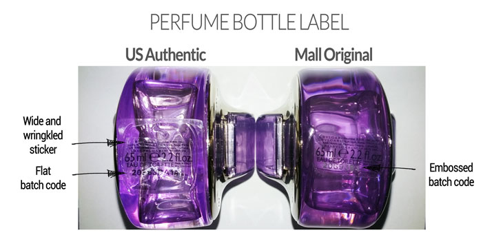 Bulgari Omnia Amethyst Perfume Bottle Label