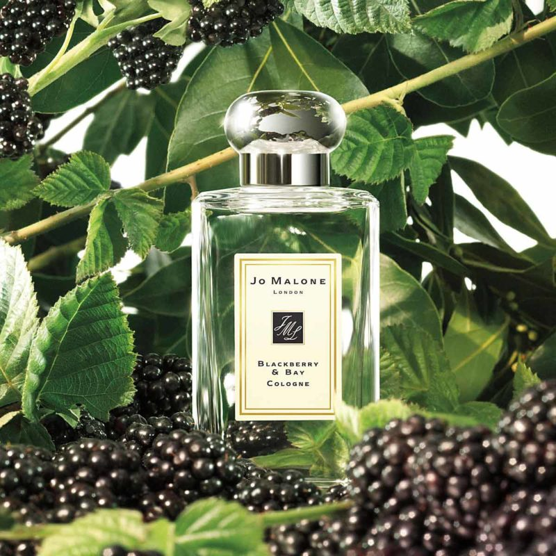 Jo Malone Blackberry & Bay Cologne with Background
