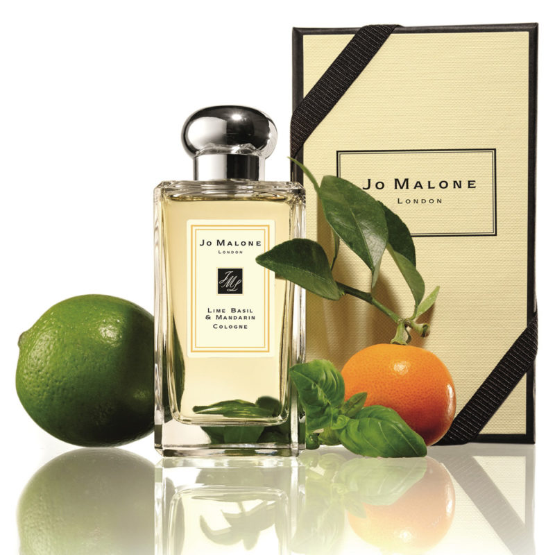 Jo Malone Lime Basil & Mandarin with background