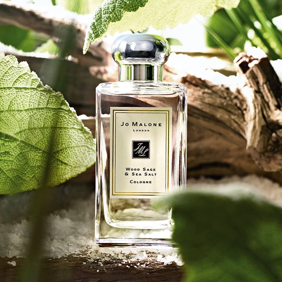 Jo Malone Wood Sage & Sea Salt with Background