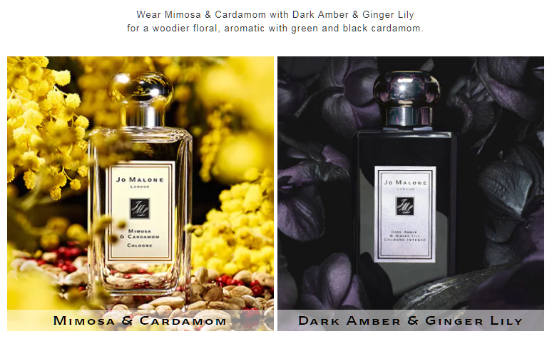Mimosa and Dark Amber Fragrance Combination