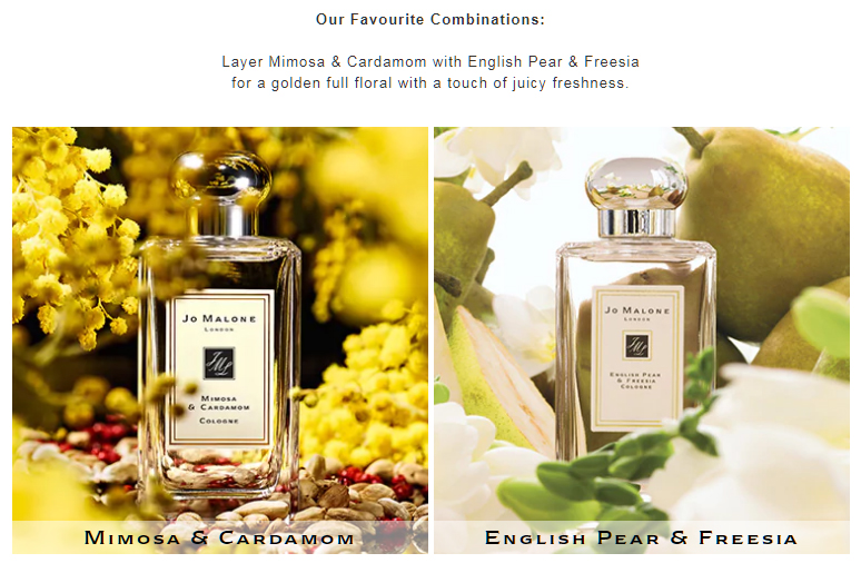 Mimosa and English Pear Fragrance Combination