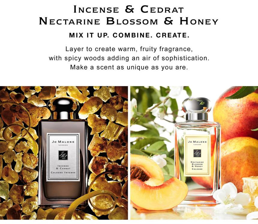 Jo Malone Incense and Cedrat - Nectarine Layering